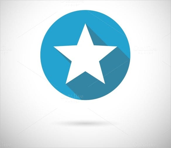 flat blue star icon download
