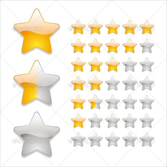 star rating icon set download