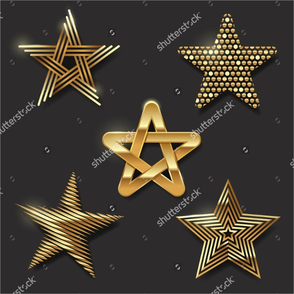 golden decorative star icon download