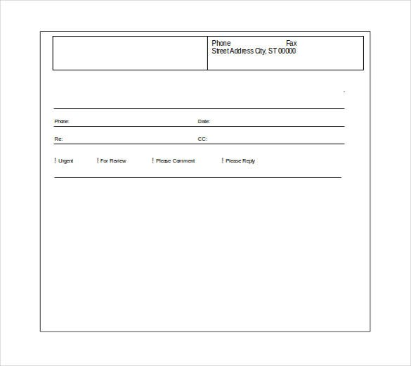 free download basic fax cover sheet word format template