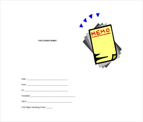 printable fax cover sheet free word template