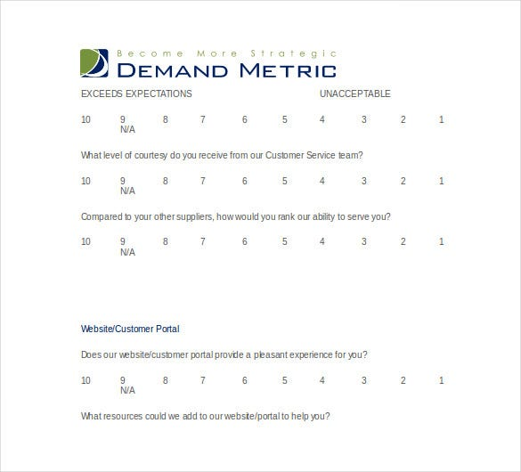customer survey template