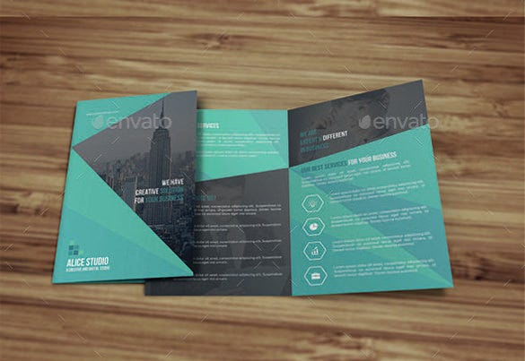 professional bi fold brochure template download - Bi Fold Brochure Template Free