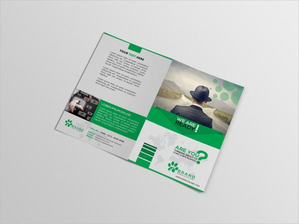 Agency Bi Fold Template Illustrator Download