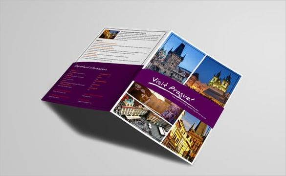 colorful bifold brochure template for download