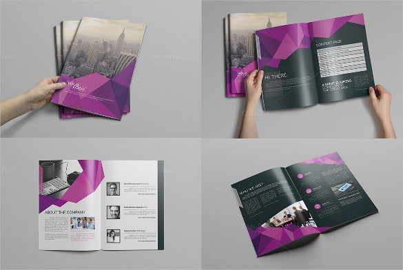 abstract bi fold brochure template