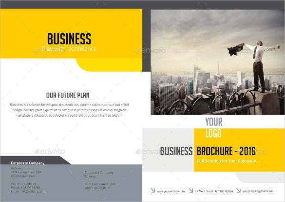 print ready bi fold brochure template