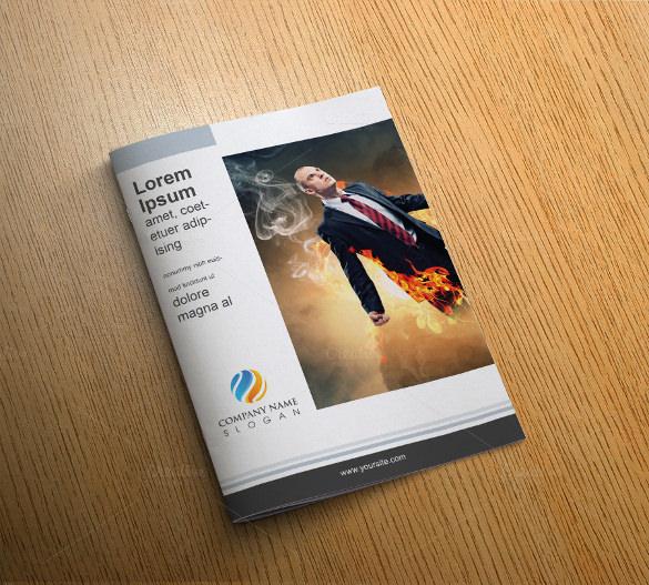 designed corporate bi fold template download