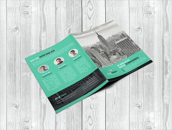 easy to edit corporate bi fold brochure template