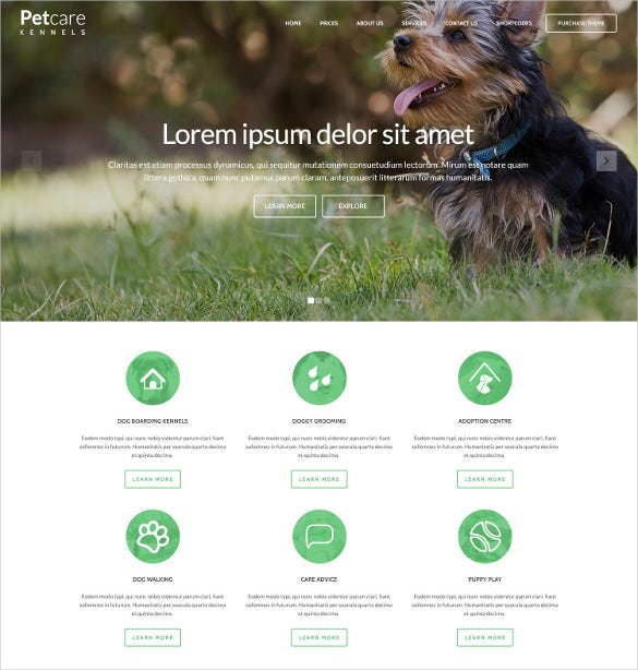 animal pet care dog html psd theme 17