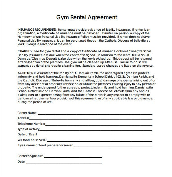 Gym contract template 14 free word pdf documents for Training terms and conditions template