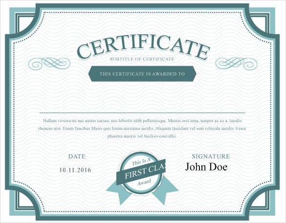 Share Stock Certificate Template   Free Word Pdf Format
