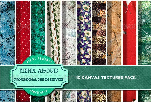 10 amazing canvas textures pack download