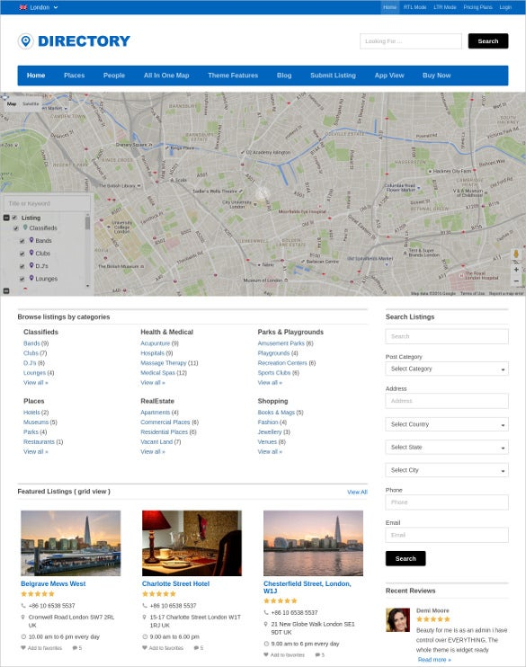 global directory wordpress theme