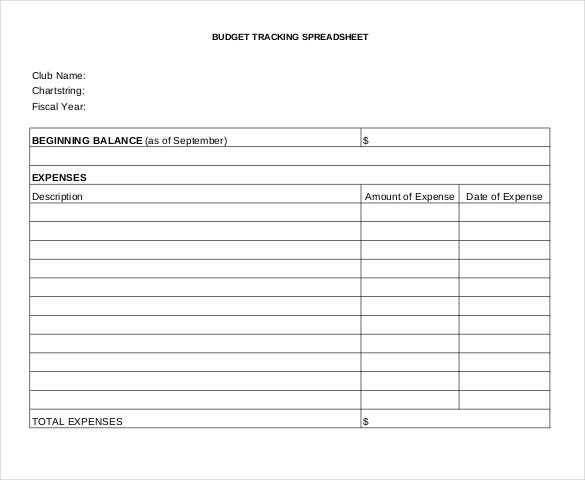 fee budget tracking spreadsheet free pdf format download
