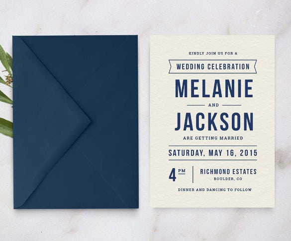 simple clear wedding invitation template for download