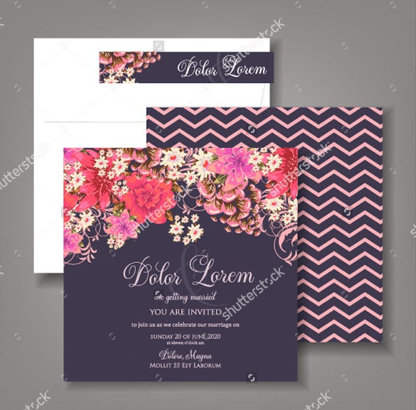 print ready wedding invitation template for download1