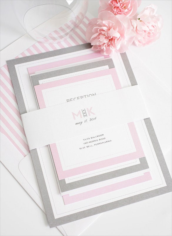 wedding invitation template for easy download