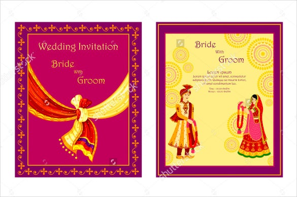 traditional wedding invitation template for download