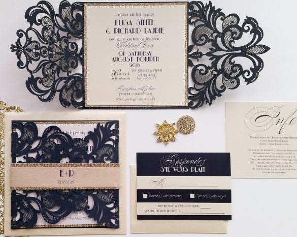 designed weddding invitation template for download