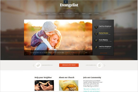 charity church wordpress theme
