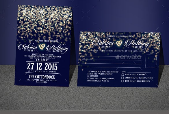 colorful background wedding invitation template for download