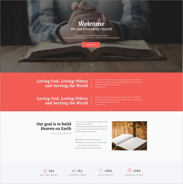 church religion wordpress theme