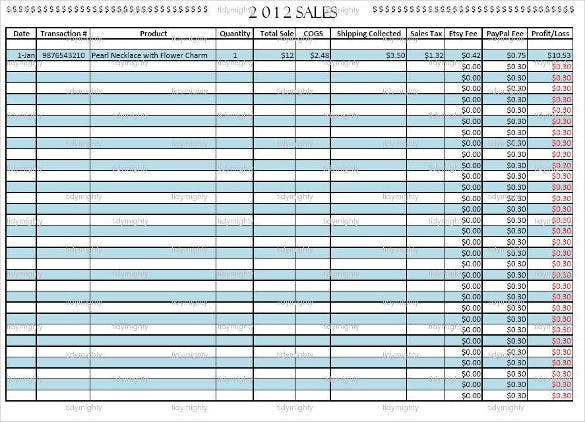 customizable sales tracker organizer template download