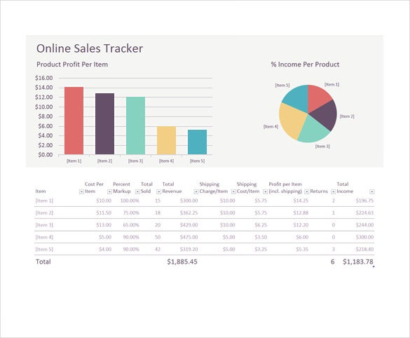 Sales Tracking Templates  Free Sample Example Format