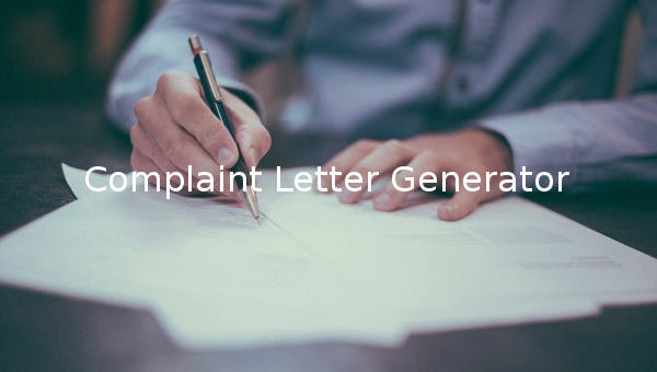 Complaint Letter Generator - 6+ Free Sample, Example, Format