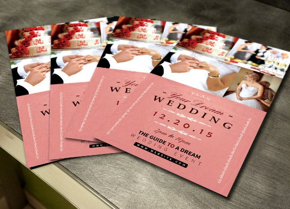 elegant wedding flyer template for download