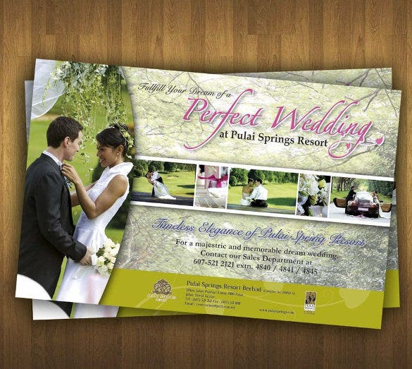 easy to print wedding flyer template for download
