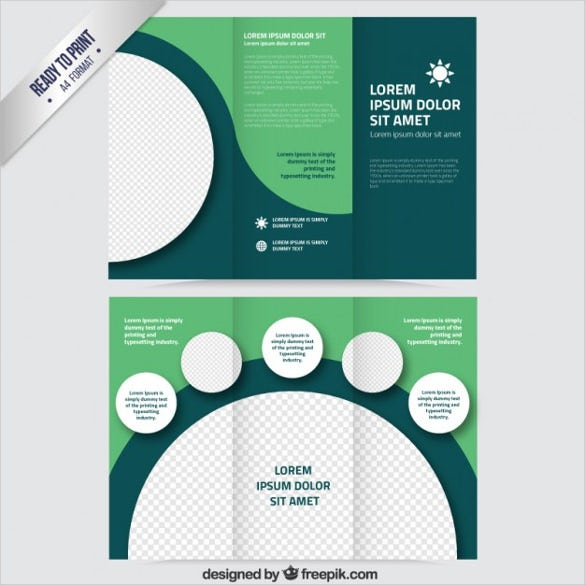 green brochure with circles free vector free download