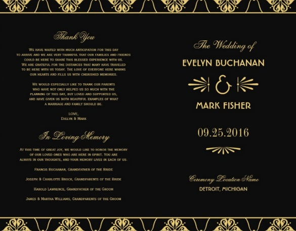 black background wedding flyer template for download
