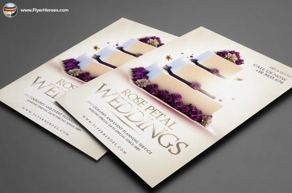 thematic wedding flyer template for download