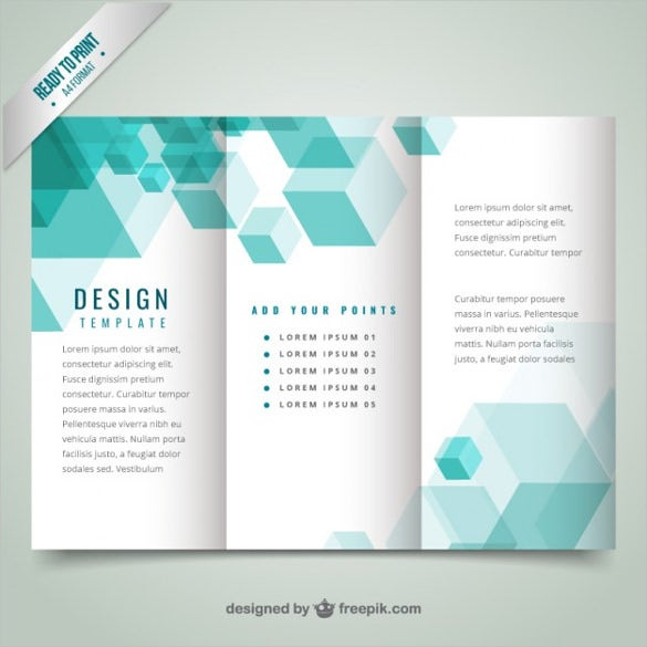 geometrical modern brochure template free vector download