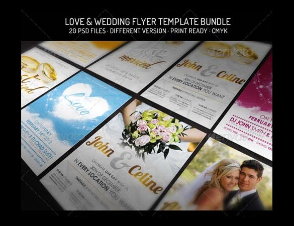 print ready wedding flyer template for download