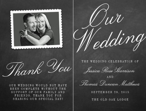 wedding flyer template with image
