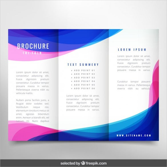 wavy modern brochure free vector download