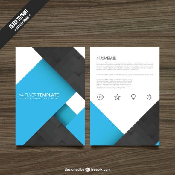 blue and black brochure free vector download