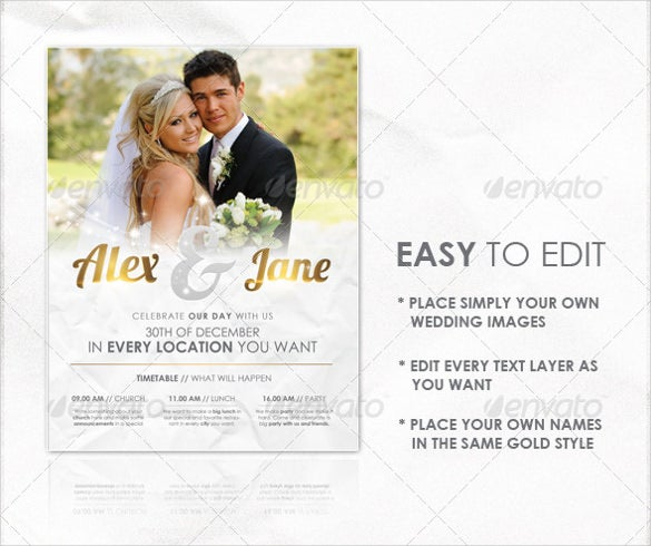Wedding Flyer Templates  Free Sample Example Format