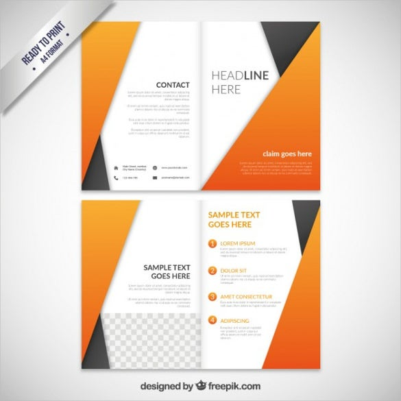 abstract orange brochure free vector download