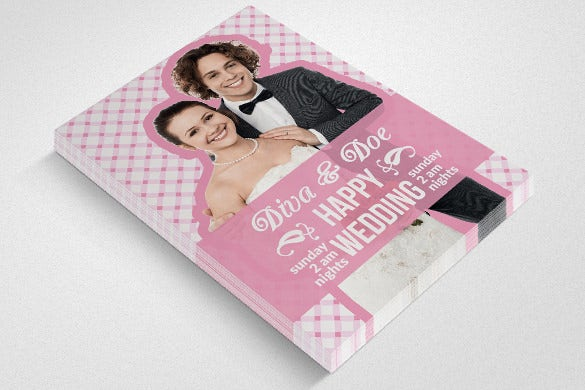 beautiful wedding flyer template for download