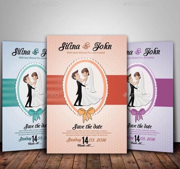 printable wedding flyer template