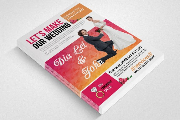easy to download wedding flyer template