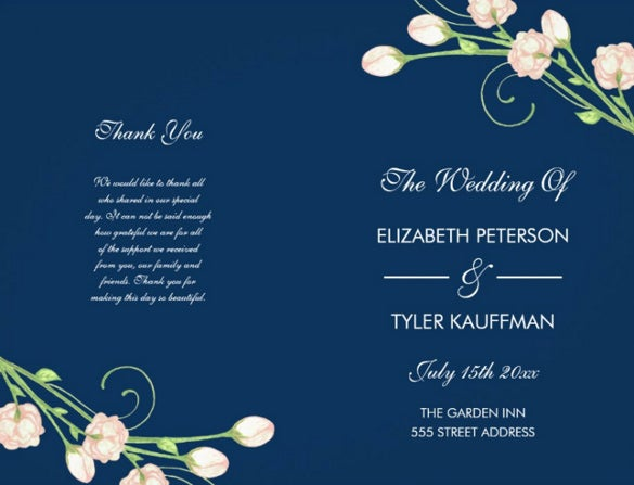 blue background wedding flyer template for download