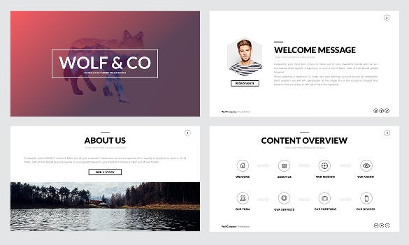 Creative powerpoint template 35 free ppt pptx potx documents awesome creative wolf minimal powerpoint template download toneelgroepblik Image collections
