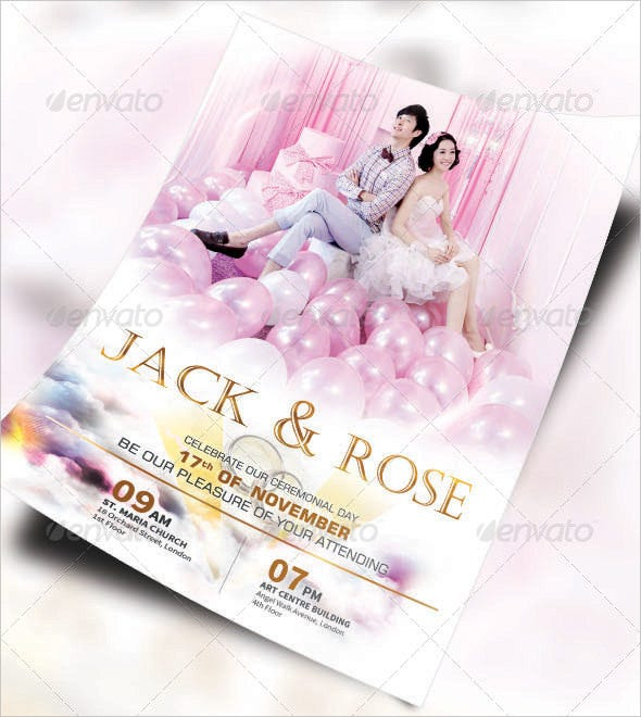 wedding flyer template for download