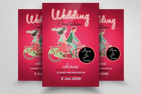 professional wedding flyer template for download