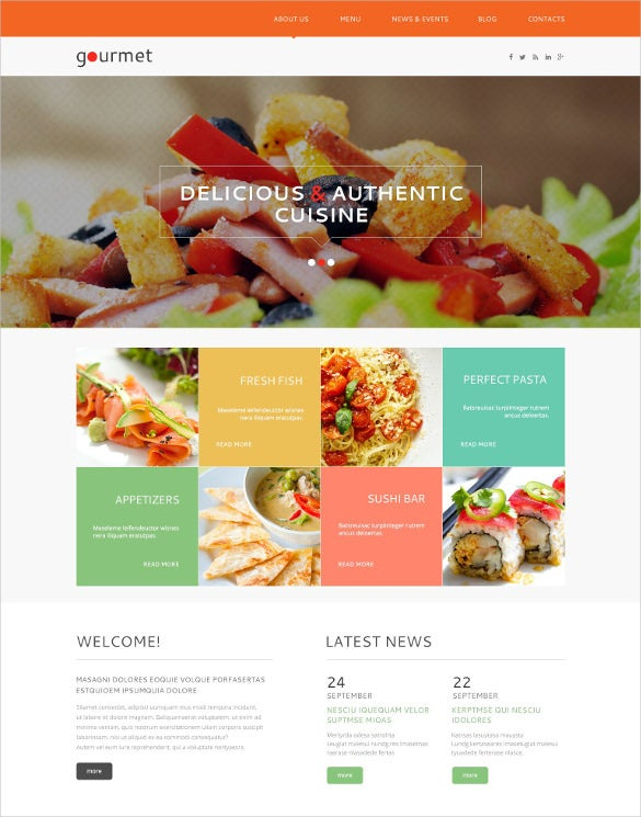 cafe restaurant wordpress theme